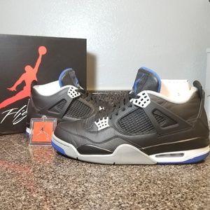 Nike Air Jordan 4 Retro Motorsport IV White Blue